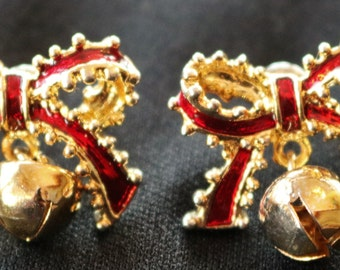 Vintage Red Bow Earrings