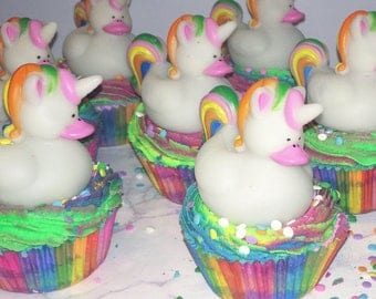 Unicorn Bath Bomb Cupcakes With Bubble Bath Frosting