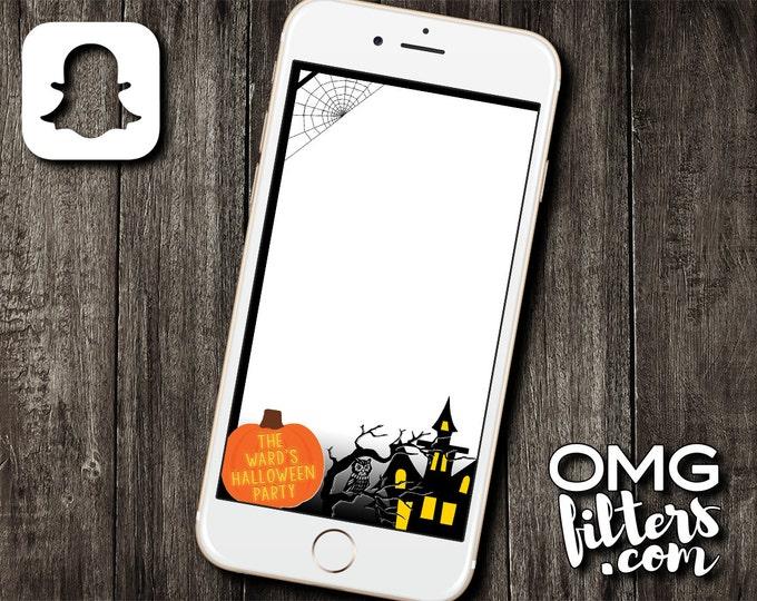 Halloween Pumpkin Party - Custom Snapchat Geofilter