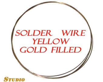 Solder wire 14K yellow gold filled - 4 inch (10 cm)