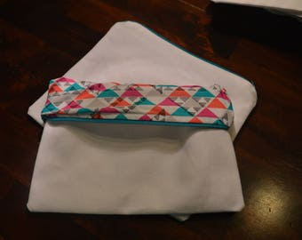 Zippered Pouch, Blank, Add your own saying, Pencil Pouch, Make-up Pouch, bag, makeup bag, pencil bag, handmade