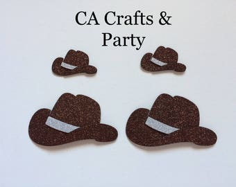 Cowboy Hat 10 PCS set-cowboy baby shower, cowboy-cowgirl theme, wild west cowboy, western decor for baby shower, western wedding decor.