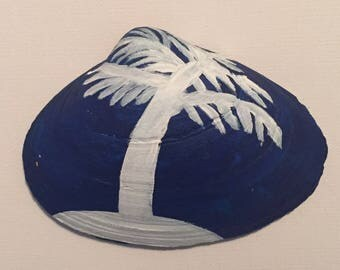 Blue and Silver Palm Tree Shell