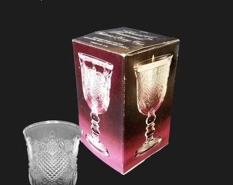 Avon - Fostoria Loving Cup - Heart & Diamond - 1978 Vintage Candle Holder