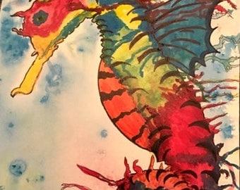 Vibrant Sea Horse