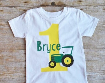 John deer tractor birthday shirt