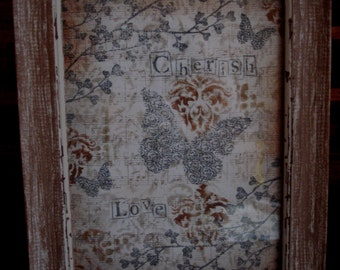 "Wall Art, handmade canvas art ""Cherish Love"""