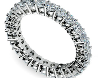 Open Gallery Diamond Eternity Ring in Platinum