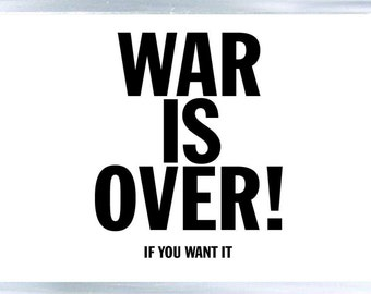 John Lennon - War is Over - Fridge Magnet