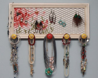 Wall Jewelry Organizer - Floral - FREE SHIPPING!