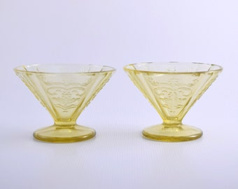"""Federal Glass """"Old Madrid"""" Sherbet dish"""