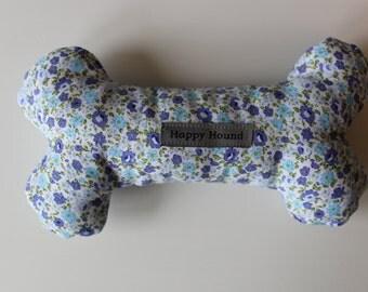 Handmade Dog Toy - Blue Ditsy Flower