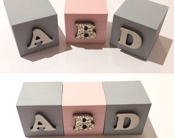Glitter name blocks