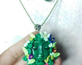 Mother Nature, pendant, moana inspired goddess.