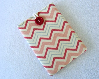 "IPad Mini Case, IPad Mini Cover, Kindle Fire Cover, Nook Cover, Kindle Fire 7 Cover, Kindle Fire HD Case, Pink Chevron 8 3/4""x 6"""