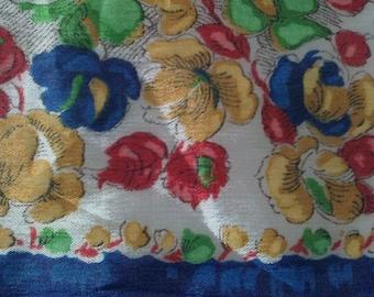 1930s pure silk handkerchief