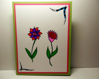 Greeting Card, Blank Card, Handmade