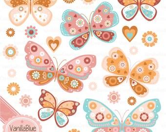 Clipart of Butterflies, Spring Clipart, Butterfly Patterns, Butterfly Vectors