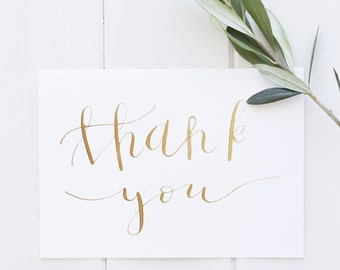 Handwritten Calligraphy Thank You Card