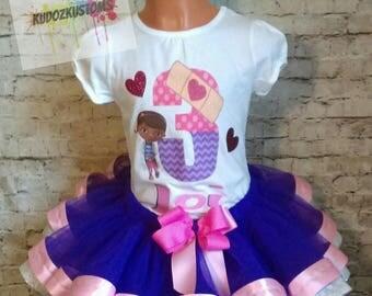 Take 20% OFF, Doc Mcstuffins Birthday Outfit, Doc Mcstuffins Outfit, Doc Mcstuffins Shirt, Doc Mcstuffin Tutu Set, (FREE BOW)