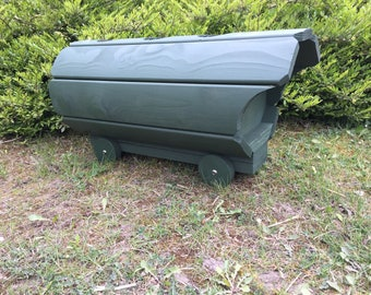 Wooden Romani Wagon Planter, Wooden planters, Garden planter, Outdoor Planters (Free Delivery)