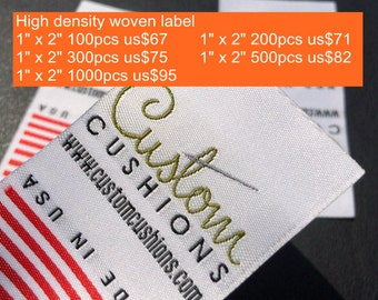 100-1000 pcs High Density Custom clothing labels, High Density clothing label, clothing labels High density custom