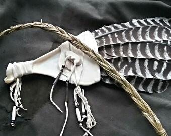 Turkey feather smudge/prayer fan