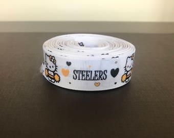 Steelers Ribbon, steeler ribbon, hello kitty ribbon - 5 Yards