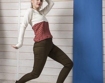"BIO mix Longsleeve Riena - ""Saxon Braid"" shirt"
