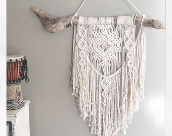 Wall Art; Macrame Wall Hanging; Tapestry; Bohemian Decor; Tribal Decor; Scandinavin Modern;