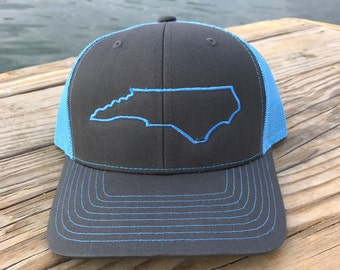 NC Snapback North Carolina State Hat Light Blue Charcoal