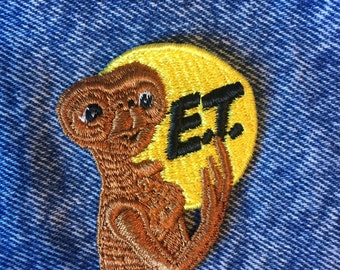 ET PATCH, vintage et patch, et phone home, extraterrestrial patch, E.T. Movie