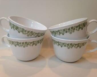 Vintage Corelle Spring Blossom Cups (4)