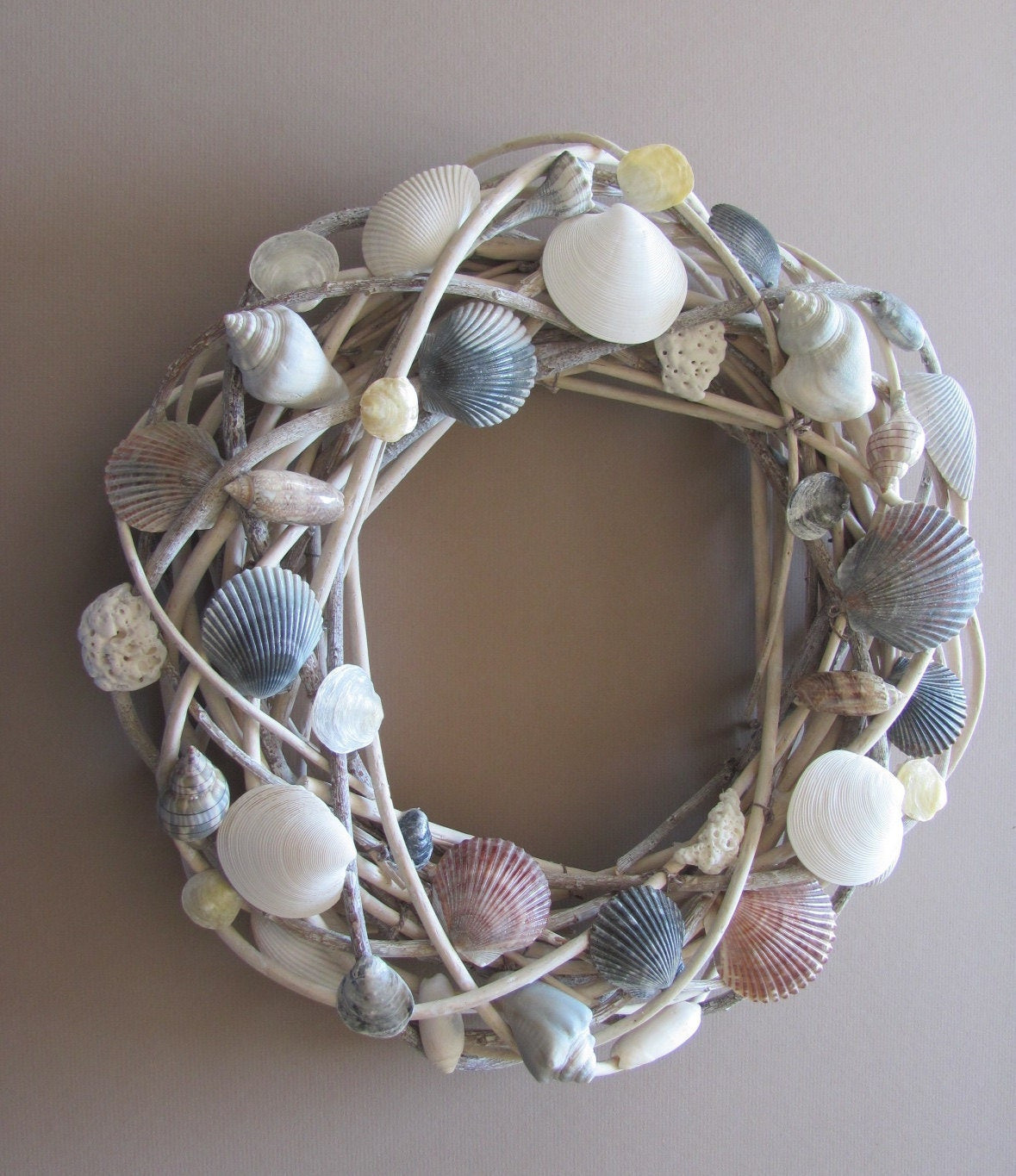 Seashell Wreath, Shell Wreath, Nautical Wreath, Coastal Wreath, Beach Decor, Beach Wedding, Beach House Decor, Shabby Chic Decor