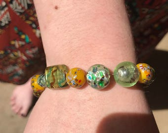 Green & yellow Bead bracelet