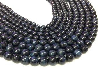 Blue Tiger Eye Beads 8mm Dark Blue Tiger Eye Dark Blue Mala Beads 8mm Navy Blue Gemstone Beads Meditation Yoga Healing Men Bracelet Bead