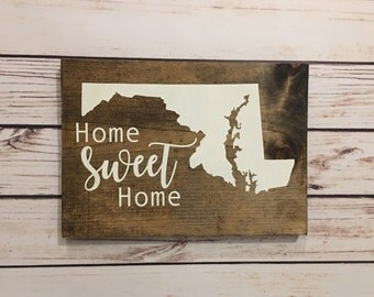Maryland Sign Home Sweet Home