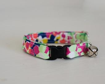 Cat Collar-Breakaway Cat Collar-Spring Cat Collar-Flower Cat Collar-Floral Cat Collar-Colorful Cat Collar-Girl Cat Collar-Cute Cat Collar