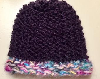 Newborn or Preemie Hand - knit Beanie