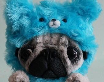 Soft toy dog Pug