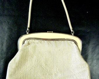 Vintage 1960's Glomesh Cream Handbag Made in Australia