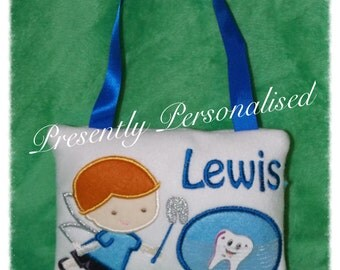 Personalised Boy Tooth Fairy Pillow