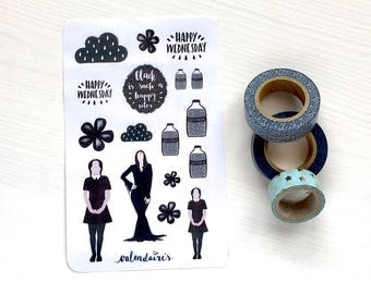Black Wednesday sticker sheet