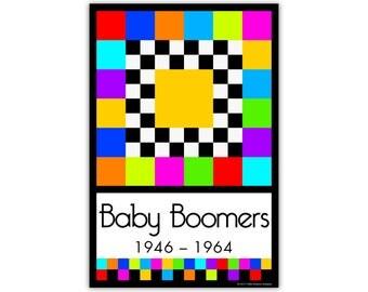 Baby Boomers Quilt Block - 1946-1964