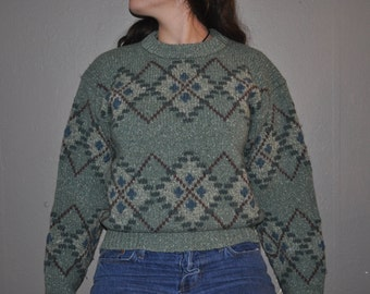 VINTAGE LL BEAN Wool Sweater women's medium