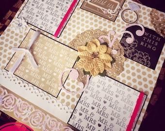 Wedding Scrapbook Album, Personalized Scrapbook Albums, Valentine Gift Ideas, Love Albums, Wedding Photo Albums, 12x12 Scrapbook Pages!
