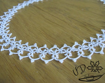 Tatting lace necklace Wedding jewelry for bride