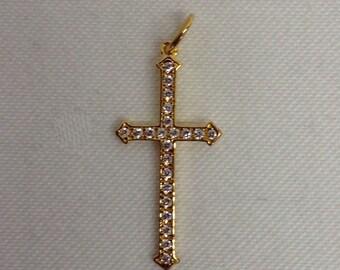 Stella and Dot Gold Cross Pendant