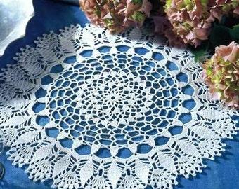 White crochet doily lace doilies