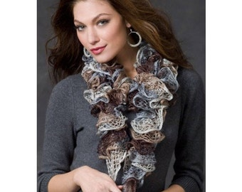 Lucille's Ruffled Scarves, Ready to Mail, Many Beautiful Colors, Hand Crocheted